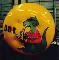 Advertising Inflatables - helium disk with artwork